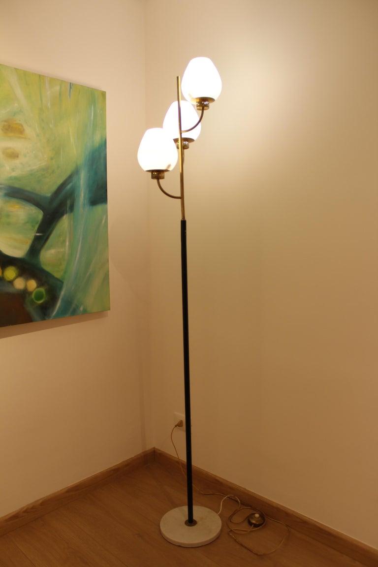 Mid-Century Modern Floor Lamp Italian Stilnovo, 1950 For Sale