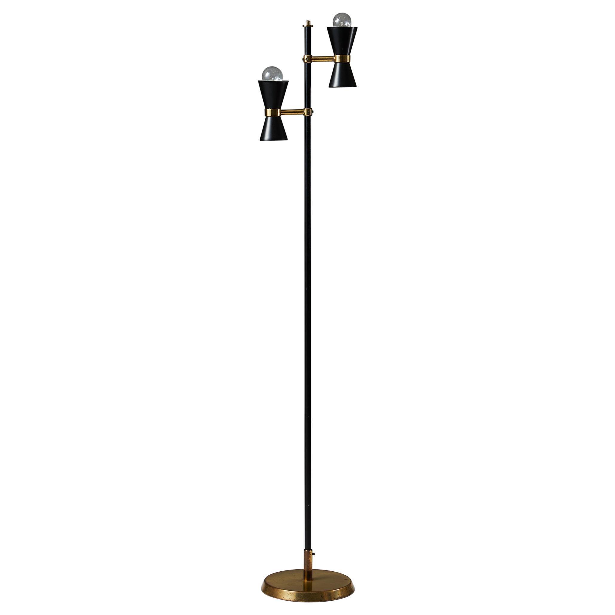 "Floor Lamp ""K10-2″ Designed by Maria Lindeman, Finland, 1950s"