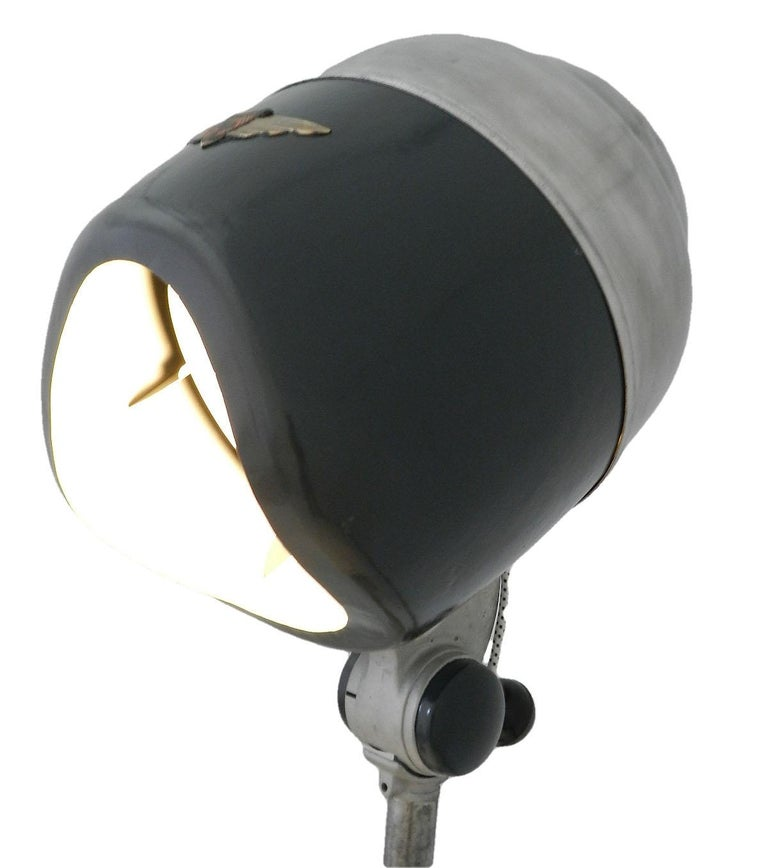 Floor Lamp Midcentury Converted 1950 Hair Dryer French Industrial One of a Kind In Good Condition For Sale In , South West France