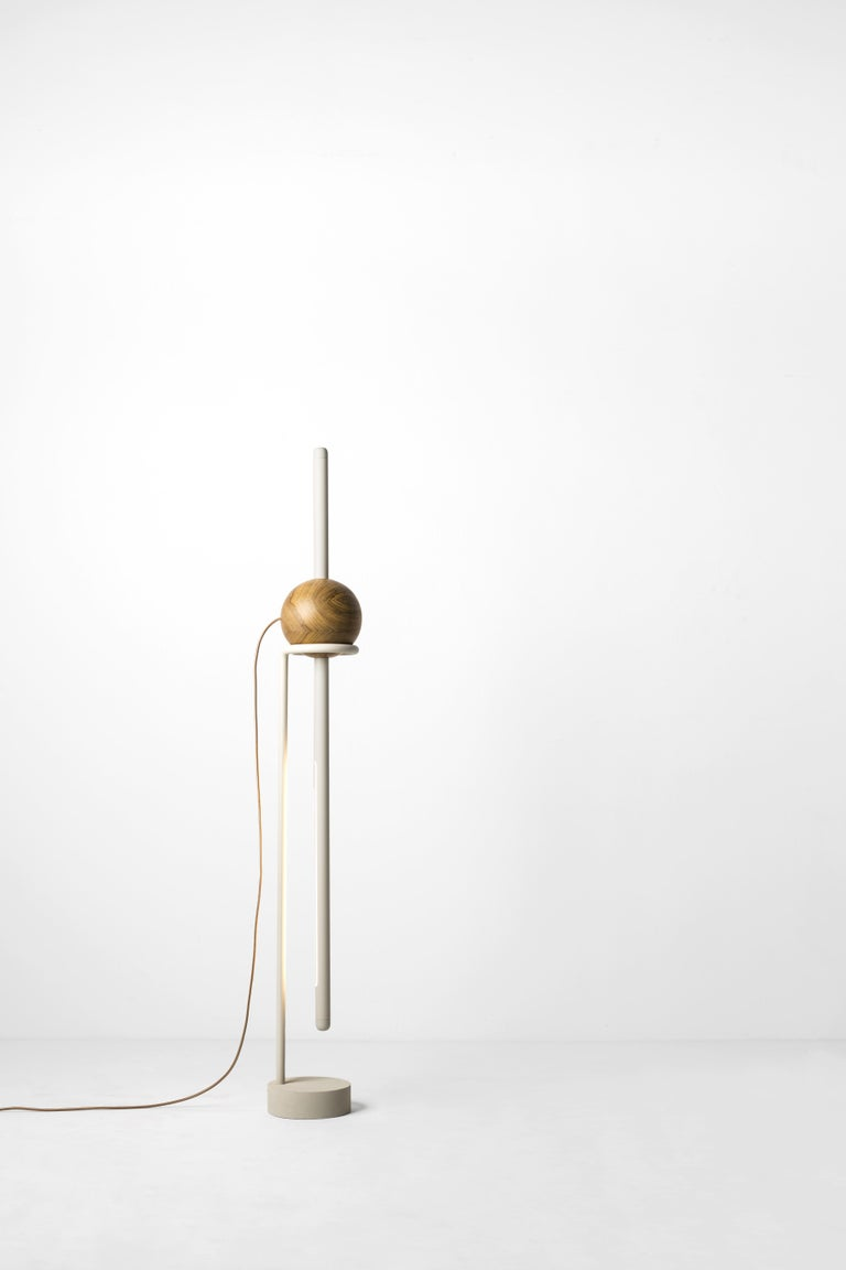 Hand-Crafted Floor Lamp Pivô on Tropical Brazilian Hardwood For Sale