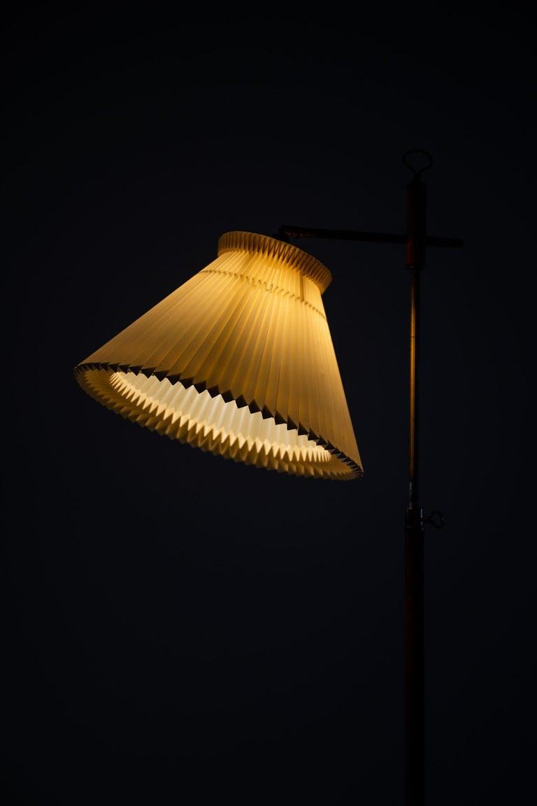 Brass Floor Lamp Produced in Denmark For Sale