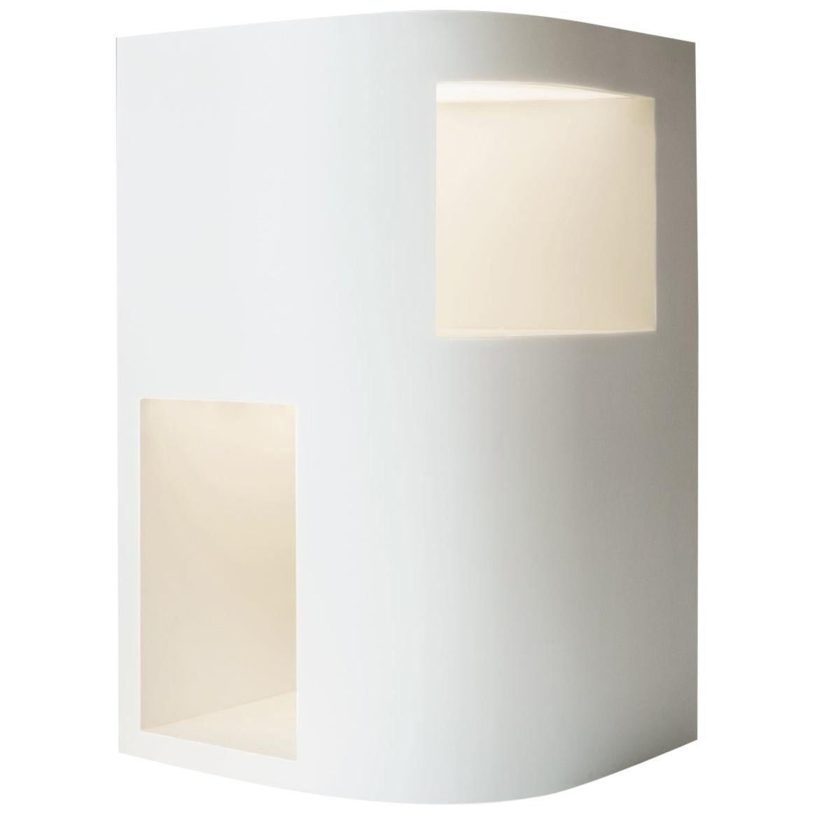 Floor Lamp Sculpture or End Table in White Corian, Limited Edition, III