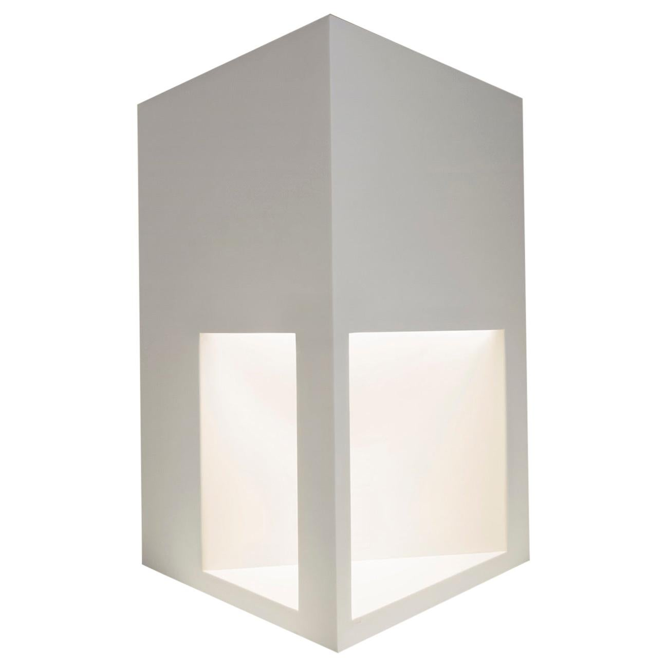 Floor Lamp Sculpture or End Table in White Corian, Ltd. Edition, I