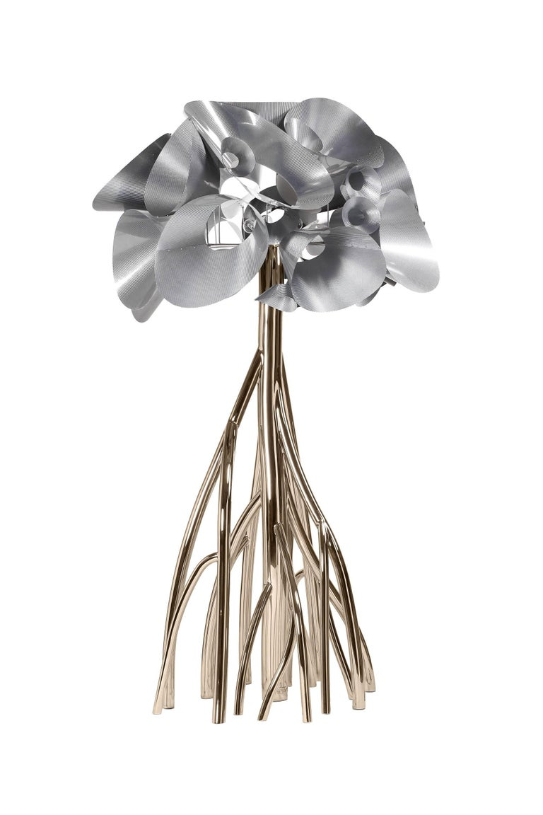 Floor Lamp Steel Gold Italian Contemporary Design For Sale 2