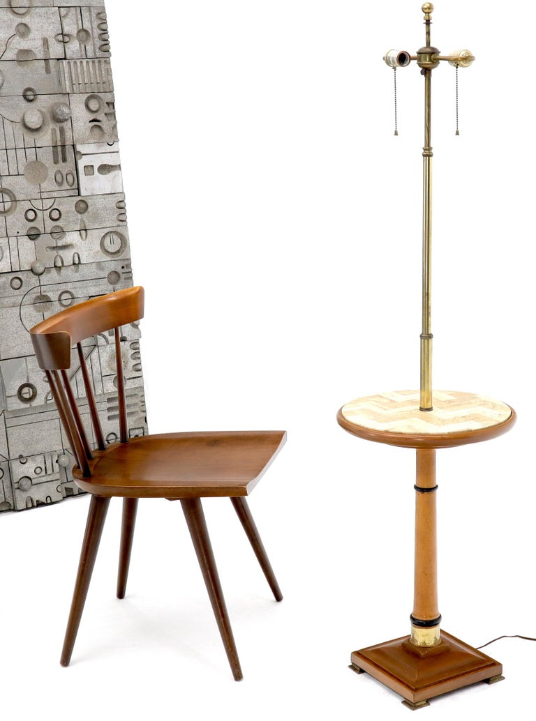 Floor Lamp with Built in Side Table For Sale 3