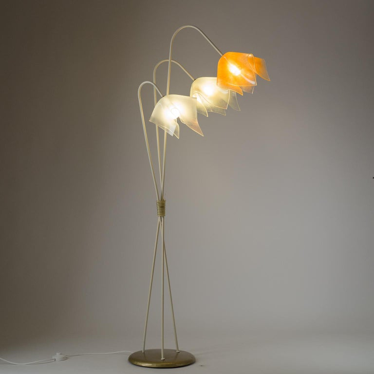 Floor Lamp with Acrylic Shades, circa 1960 For Sale 8