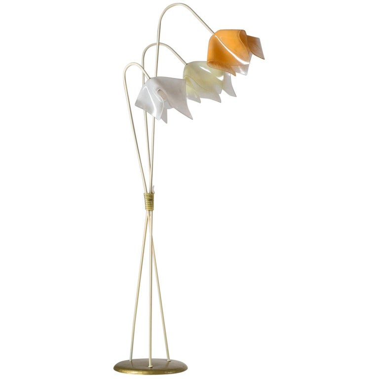 Floor Lamp with Acrylic Shades, circa 1960 For Sale