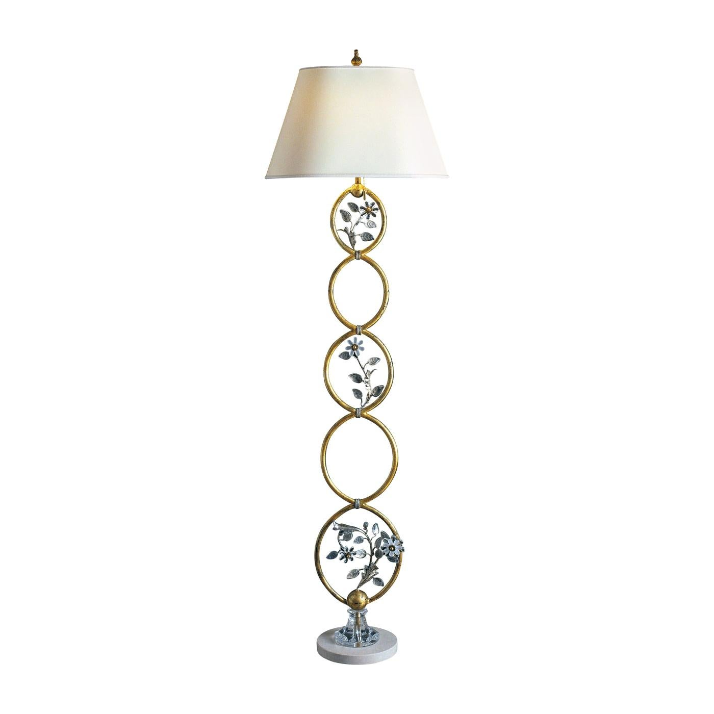 Floor Lamp with Marble Base