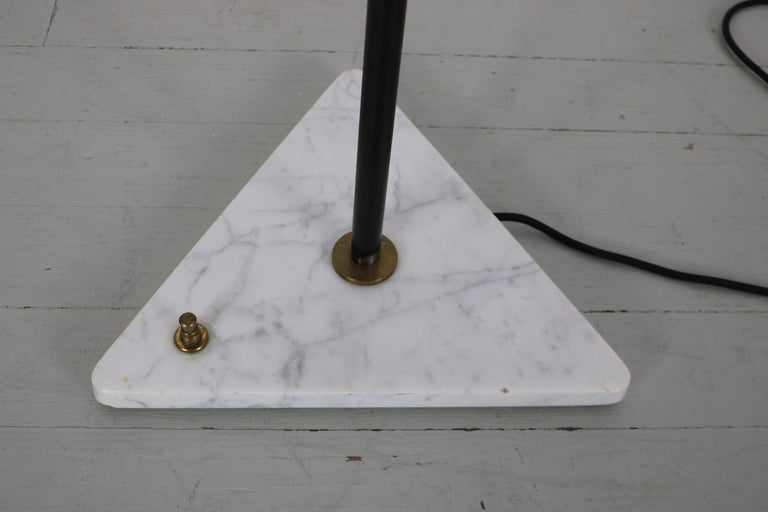 Floor Lamp with Marble Base in the Manner of Stilnovo, Italy, 1950s For Sale 3
