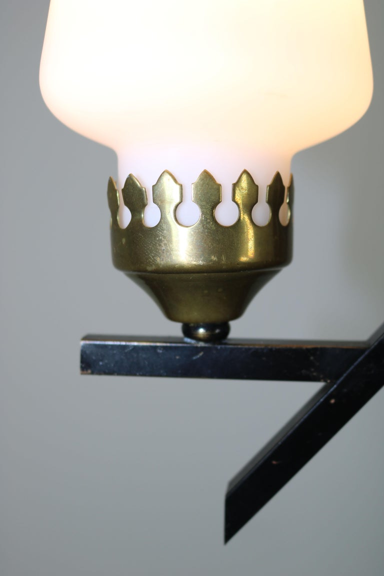Floor Lamp with Marble Base in the Manner of Stilnovo, Italy, 1950s For Sale 4
