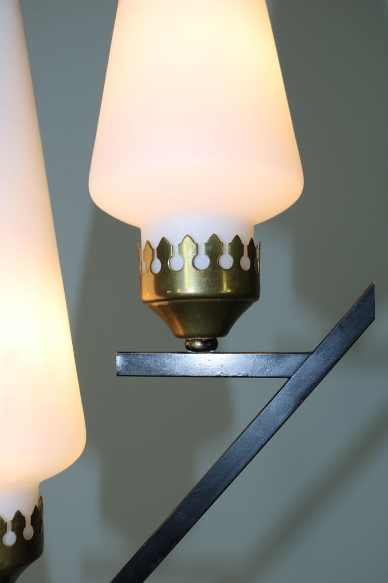 Floor Lamp with Marble Base in the Manner of Stilnovo, Italy, 1950s For Sale 6