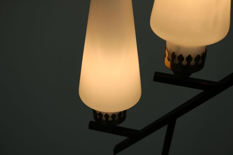 Floor Lamp with Marble Base in the Manner of Stilnovo, Italy, 1950s For Sale 7