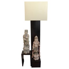 Floor Lamp With Oriental Statues Attributed to Billy Haines