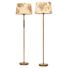 Floor Lamps Attributed to Paavo Tynell Produced in Finland