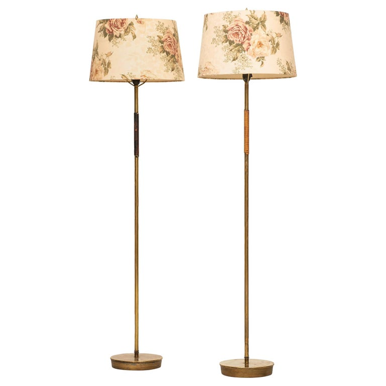 Floor Lamps Attributed to Paavo Tynell Produced in Finland For Sale