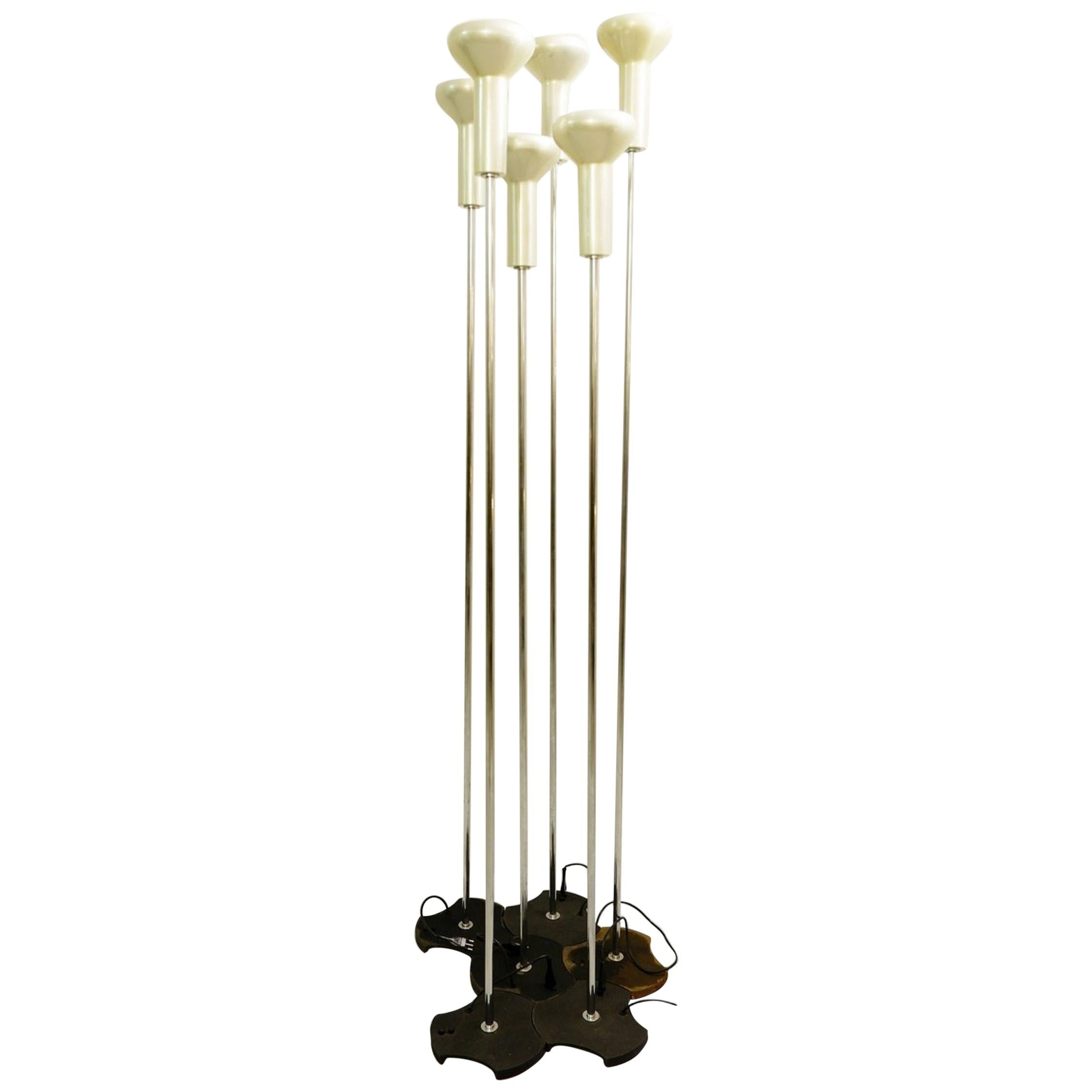 Floor Lamps Model 1074 by Gino Sarfatti for Arteluce