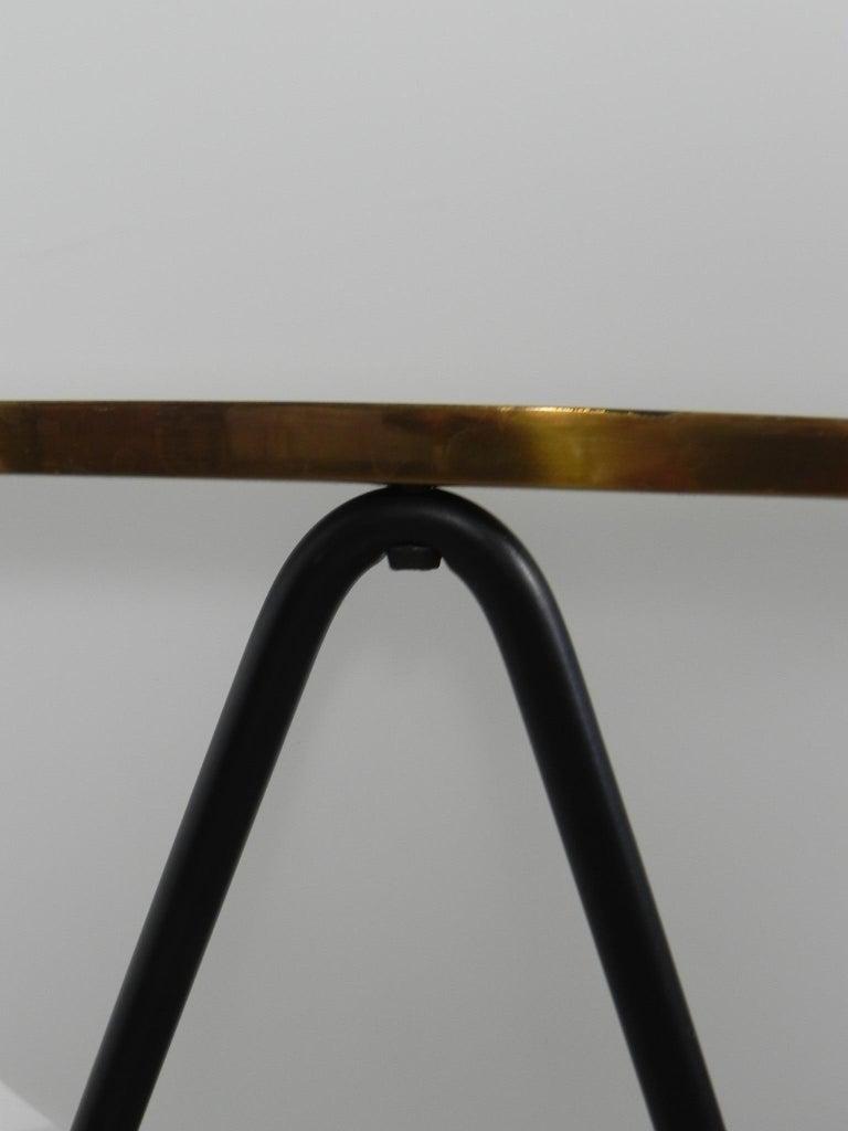 Floor Lamps Stilnovo Midcentury Uovo Brass Italian, 1950 2