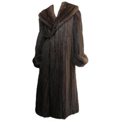 Floor Length Brown Sable Fur Coat
