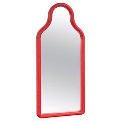 Floor Mirror TRN L, Wood (red)