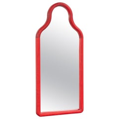 Floor Mirror TRN M, Wood 'red'