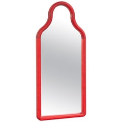 Floor Mirror TRN S, Wood (red)