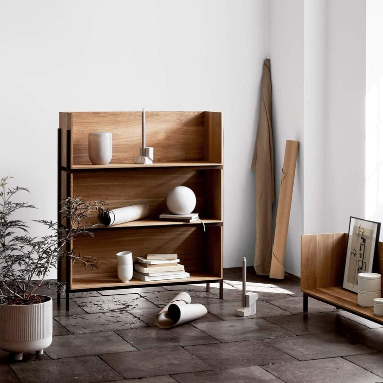 Hand-Crafted Floor Shelf by Kristina Dam Studio For Sale