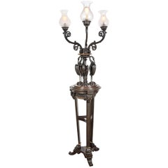 Floor Standing Bronze Candelabra by Messenger & Sons
