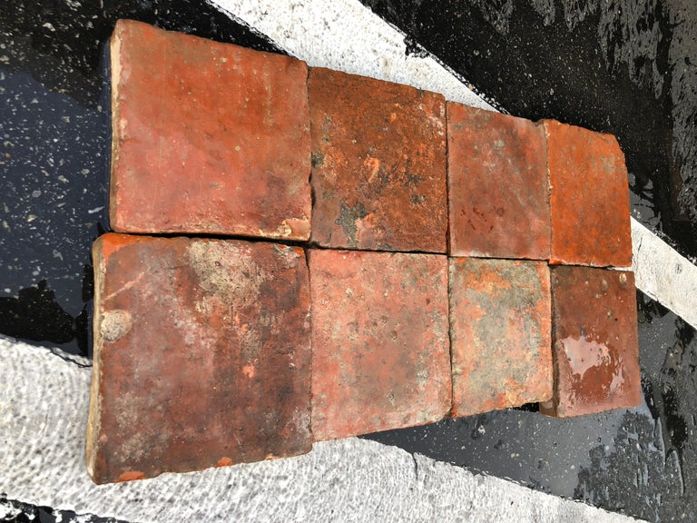 Flooring French Antique Terracotta 18th Century from France In Good Condition For Sale In LOS ANGELES, CA