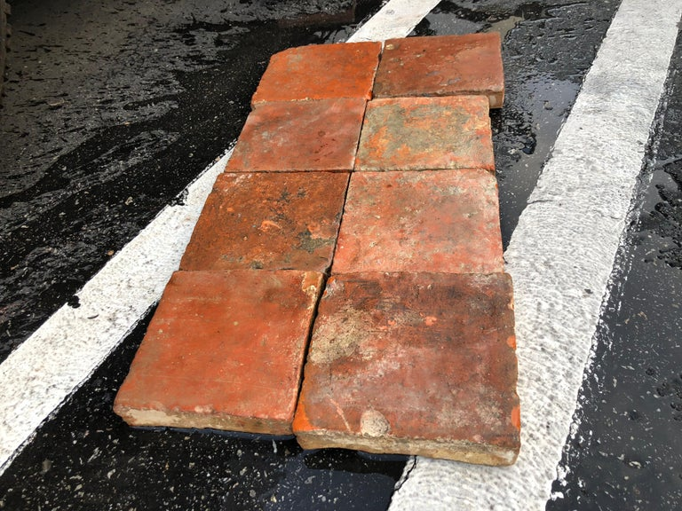18th Century and Earlier Flooring French Antique Terracotta 18th Century from France For Sale