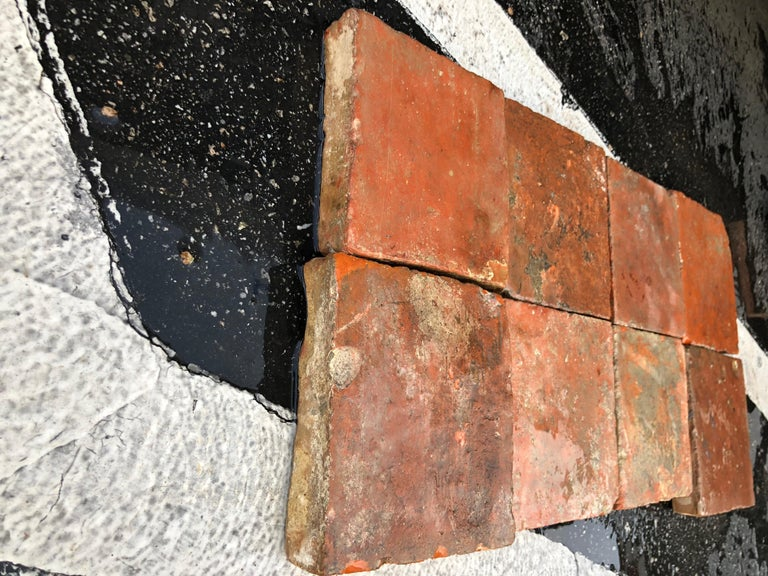Flooring French Antique Terracotta 18th Century from France For Sale 1