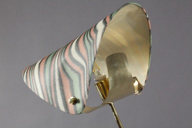 Austrian Floorlamp Designed Rupert Nikoll Vienna, 1950 For Sale