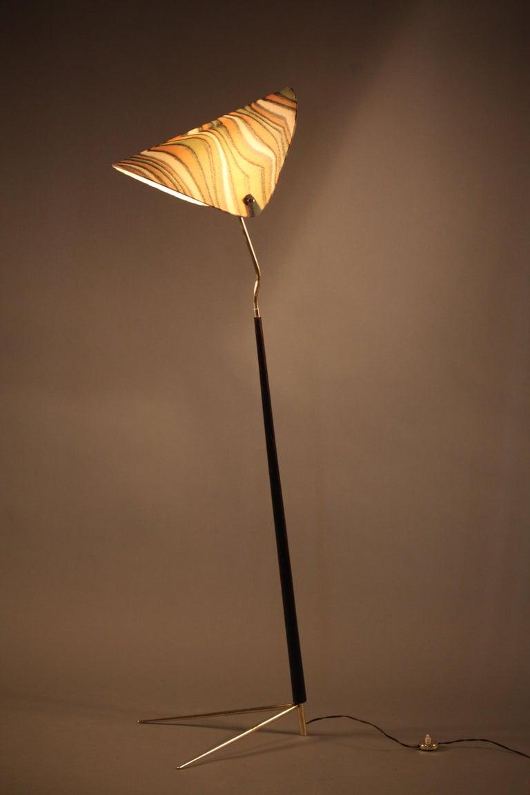 Floorlamp Designed Rupert Nikoll Vienna, 1950 In Excellent Condition For Sale In Vienna, Vienna