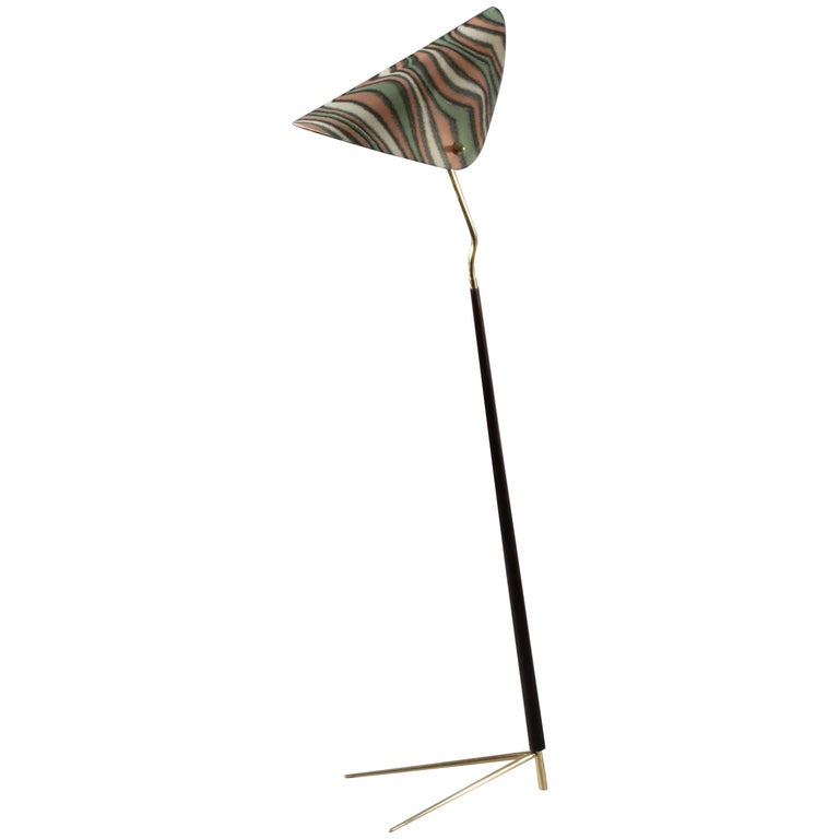 Floorlamp Designed Rupert Nikoll Vienna, 1950 For Sale