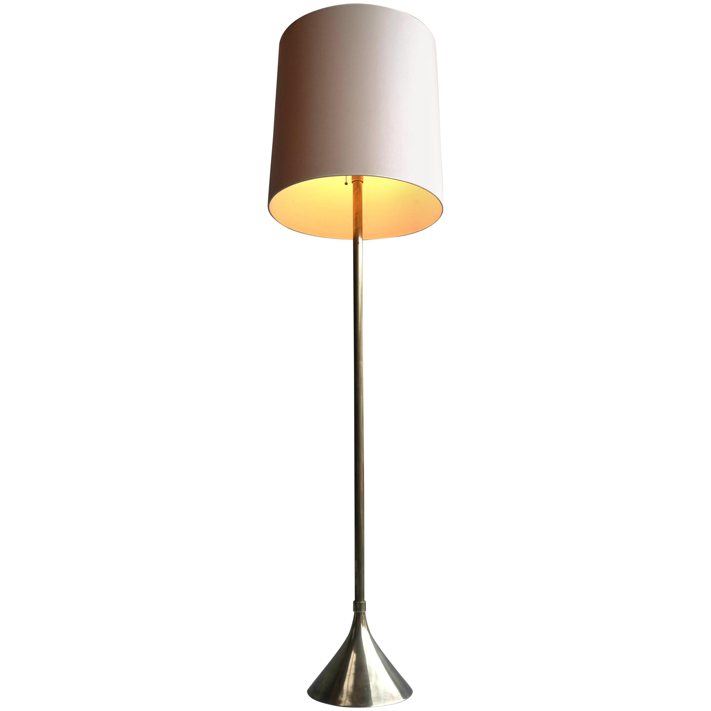 Floorlamp with Brass Trumpet Shaped Base, Italy, 1960s