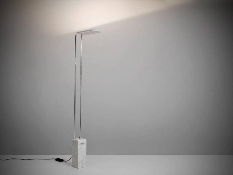 Floor lamp 'Gesto Terra' in marble, steel and acrylic, Italy, 1974. 