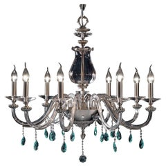 Flora Clear Chandelier 8 Lights