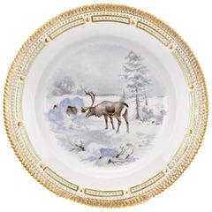 Flora Danica Reindeer Dinner Plate