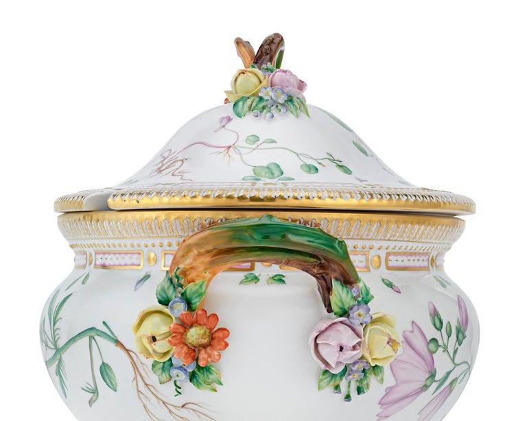 Rococo Flora Danica Soup Tureen by Royal Copenhagen For Sale