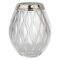 Flora Large Crystal Vase