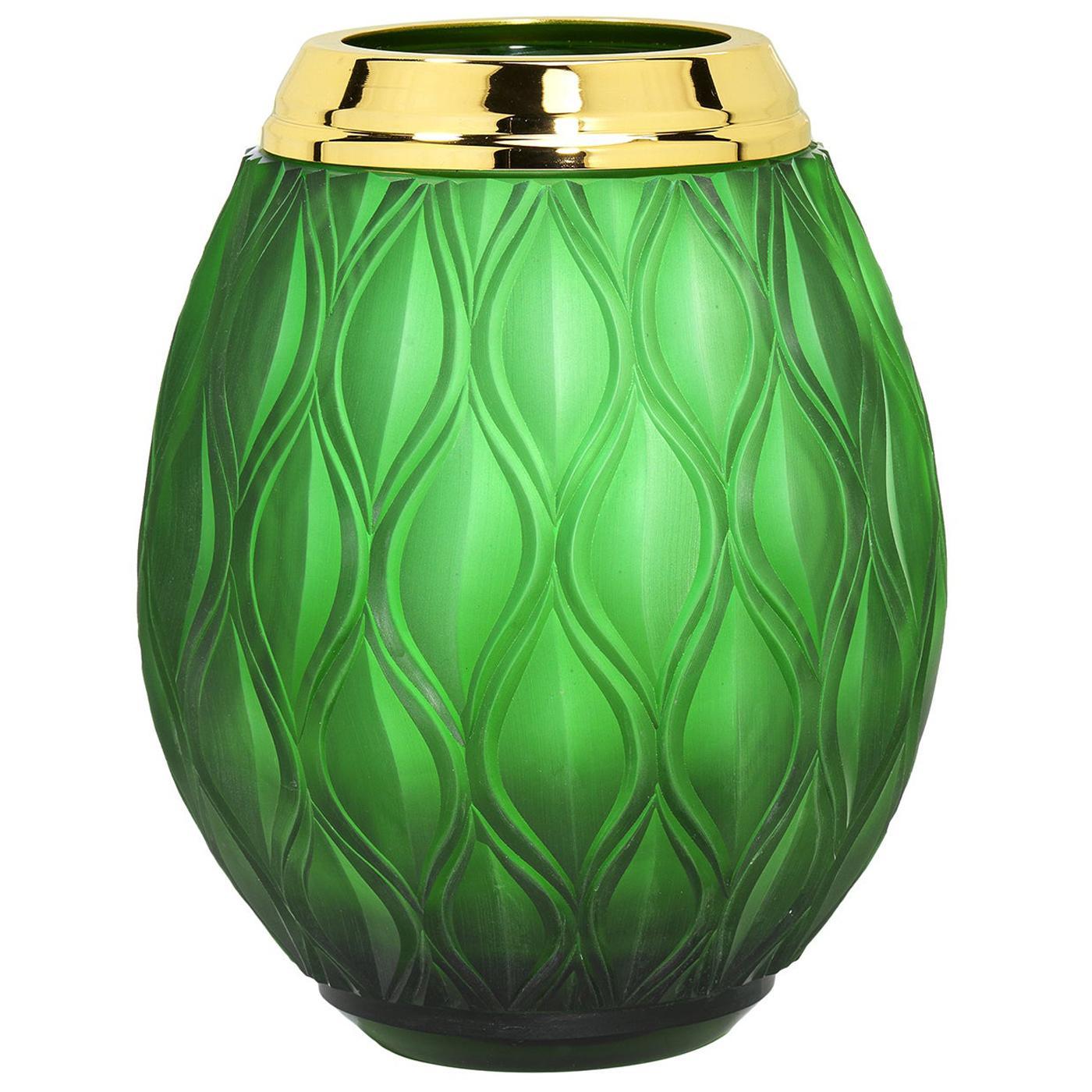 Flora Large Green Vase
