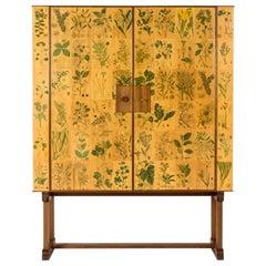 """""""Flora"""" Mahogany Cabinet Designed by Josef Frank for Svenskt Tenn, Sweden, 1951"""