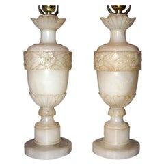 Floral Alabaster Lamps