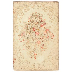Floral Antique American Hooked Rug