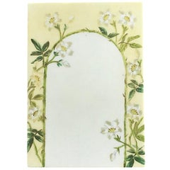 Floral Archway Yellow Green and White Porcelain Menu