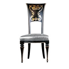 Floral Back Chair