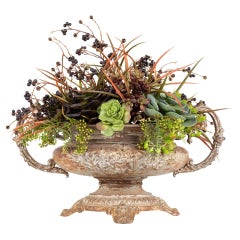 Floral Cast Iron Centerpiece