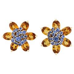 Floral Citrine Earrings by Van Cleef & Arpels
