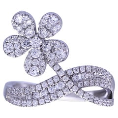 Floral Diamond 18 Karat Gold Ring