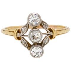 Floral Diamond Belle Époque Ring, circa 1900