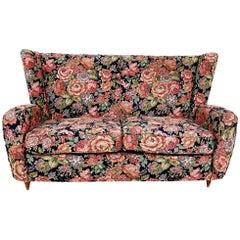 Floral Fabric Sofa by Paolo Buffa for Hotel Bristol Merano, Italy, 1950s